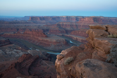 Predawn Light at Dead Horse Point